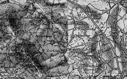 Old map of Wheal Vor in 1895