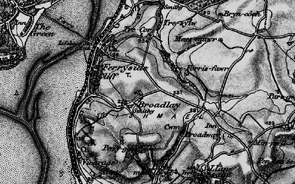 Old map of Broadlay in 1896