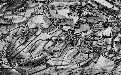 Old map of Whitcombe Barn in 1897