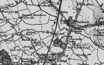 Old map of Ball's Hall in 1897