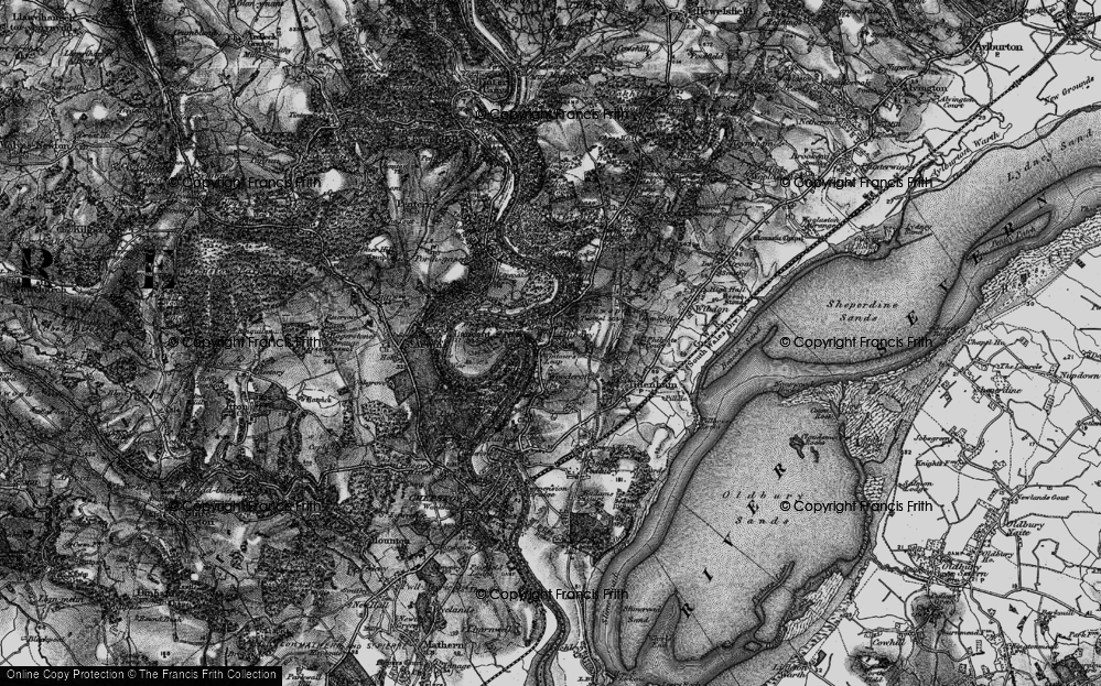 Old Map of Historic Map covering Ashberry Ho in 1897