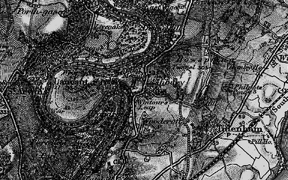 Old map of Wintour's Leap in 1897