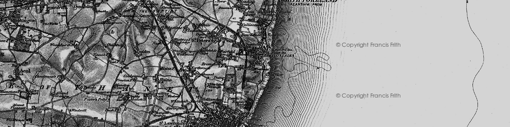 Old map of Broadstairs in 1895