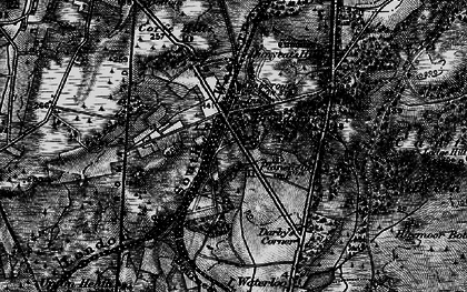 Old map of Broadstone in 1895
