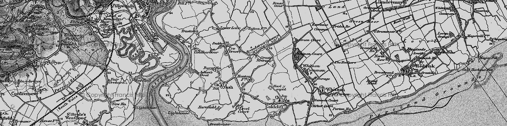 Old map of Broadstreet Common in 1898