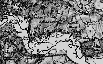 Old map of Broadwas in 1898