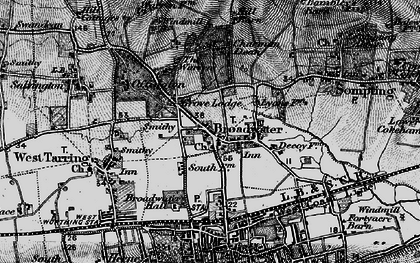 Old map of Broadwater in 1895