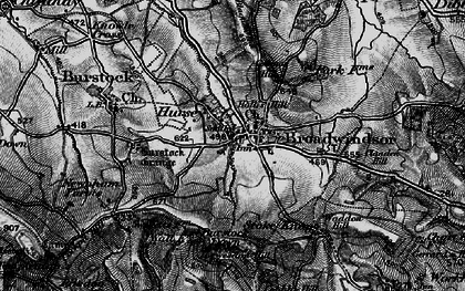 Old map of Lewesdon Hill in 1898