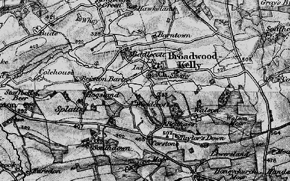 Old map of Woodcroft in 1898