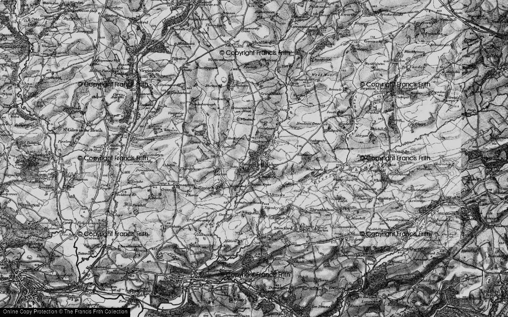 Old Map of Broadwoodwidger, 1895 in 1895