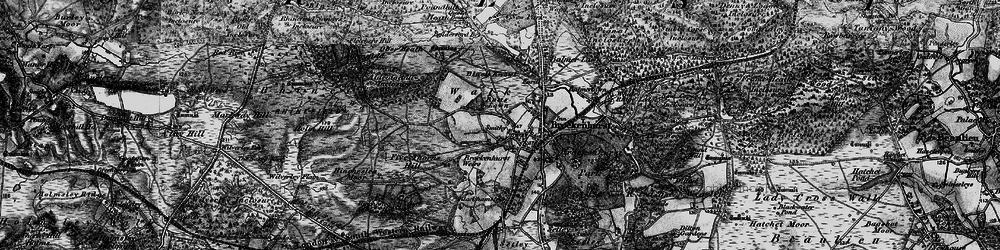Old map of Brockenhurst in 1895