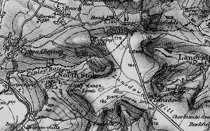 Old map of Brockham End in 1898