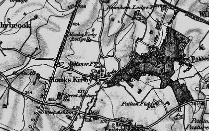 Old map of Newnham Paddox in 1899