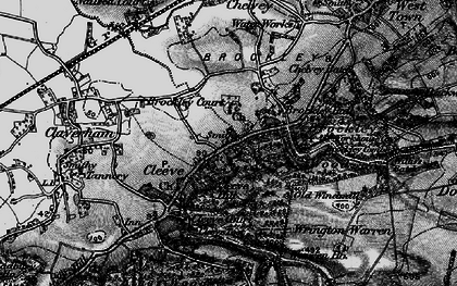 Old map of Wrington Warren in 1898