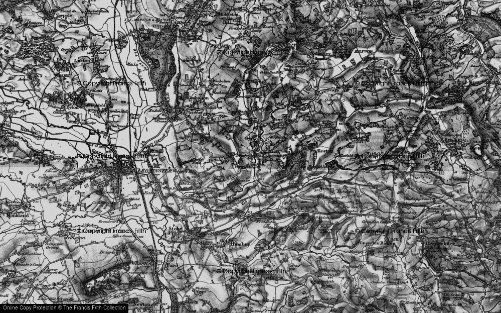 Old Map of Historic Map covering Bach in 1899