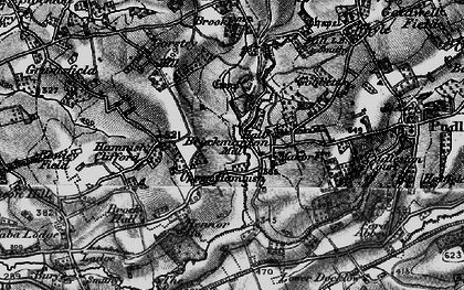 Old map of Bach in 1899