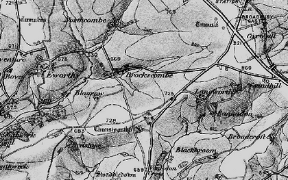 Old map of Bannadon in 1895