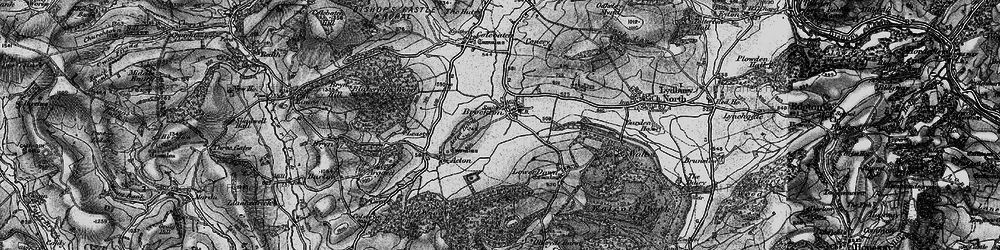 Old map of Acton Bank in 1899