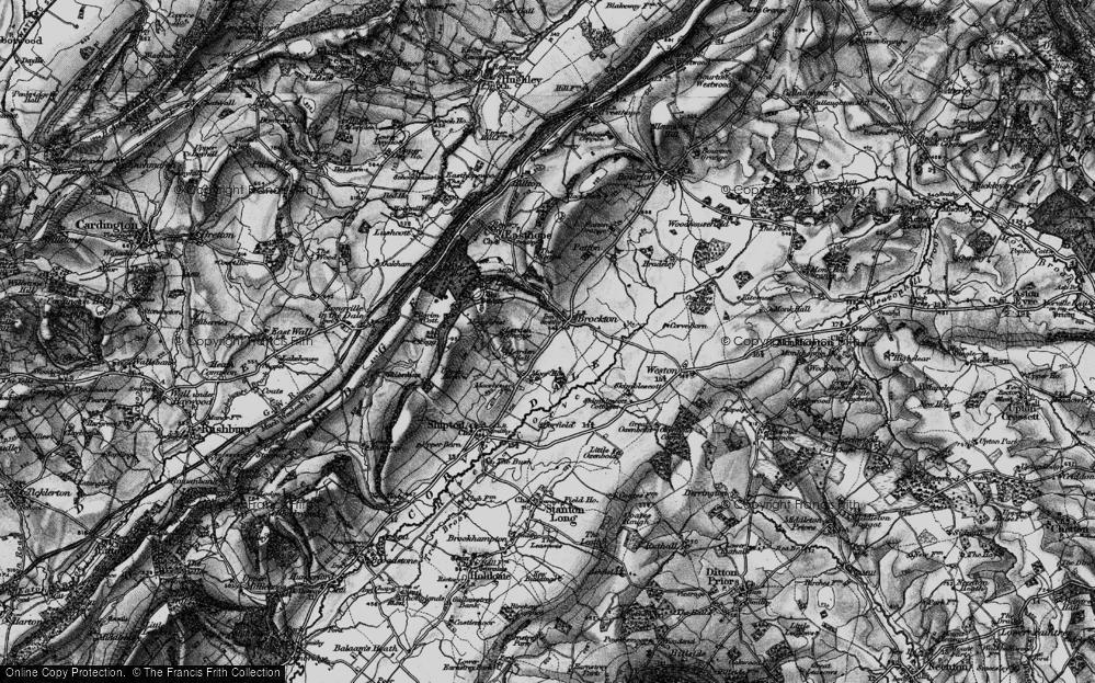 Old Map of Historic Map covering Larden Grange in 1899