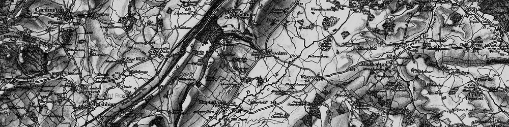 Old map of Larden Hall in 1899