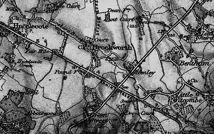 Old map of Brockworth in 1896