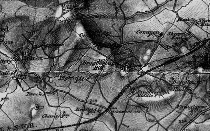 Old map of Brogborough in 1896
