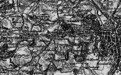 Old map of Broken Cross in 1896