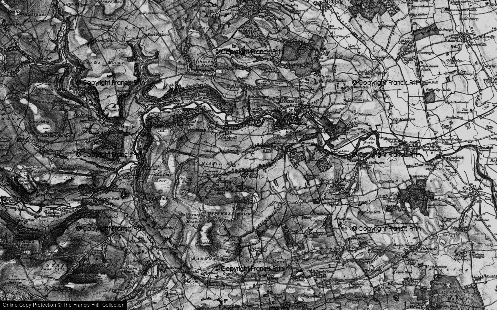 Old Map of Historic Map covering Badger Beck in 1897