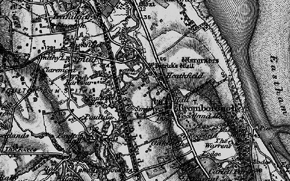 Old map of Bromborough in 1896