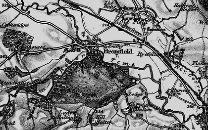 Old map of Woodhouses in 1899