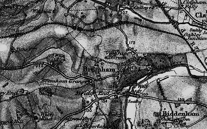Old map of Bromham in 1896