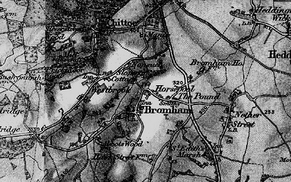 Old map of Bromham in 1898