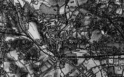 Old map of Bromley in 1895