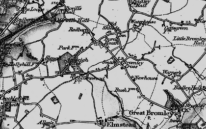 Old map of Ardleigh Park in 1896