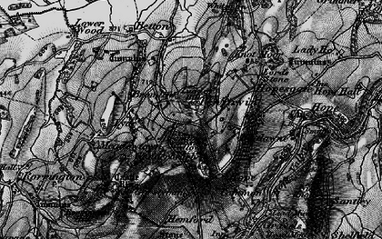 Old map of Whitsburn Hill in 1899