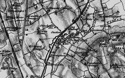 Old map of Brompton in 1898
