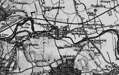 Old map of Brompton-on-Swale in 1897