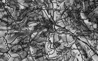 Old map of Bromyard in 1899