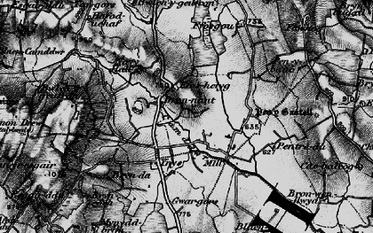 Old map of Bronant in 1898