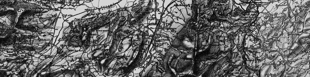 Old map of Allt y Moch in 1899
