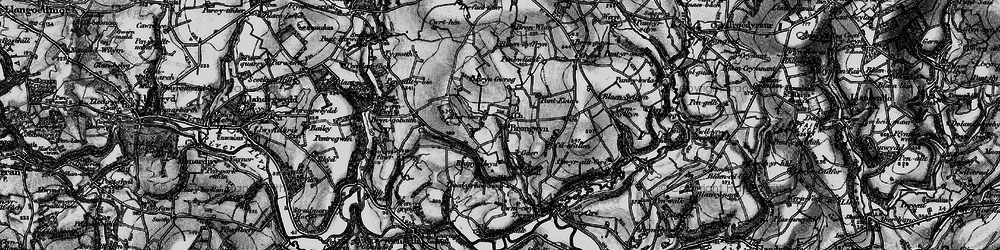 Old map of Abergwrog in 1898
