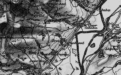 Old map of Bronydd in 1896