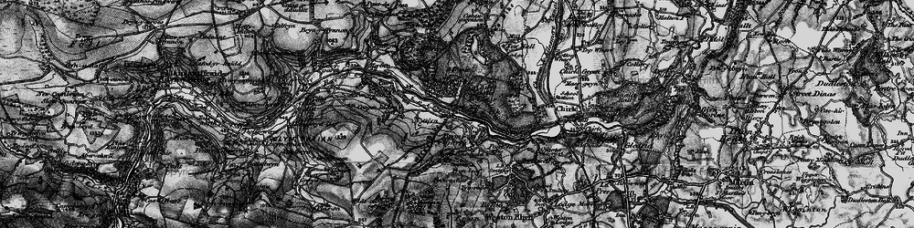 Old map of Bronygarth in 1897