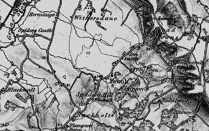 Old map of Brook in 1895