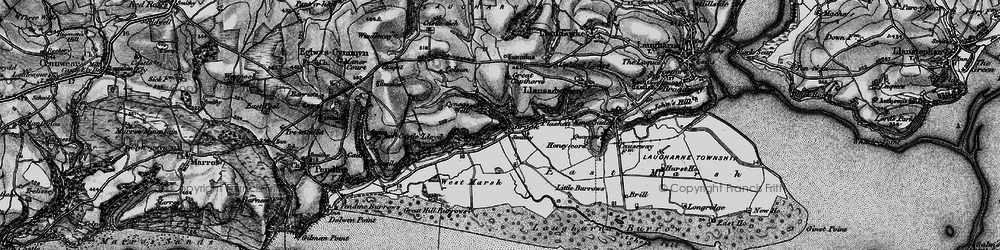 Old map of Windleway in 1898