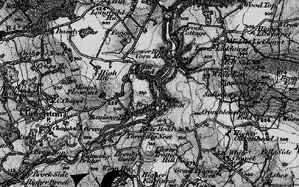 Old map of Banister Hey in 1896