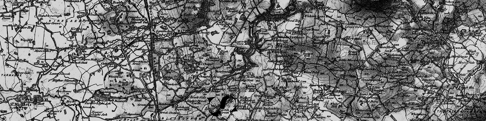 Old map of White Lee in 1896