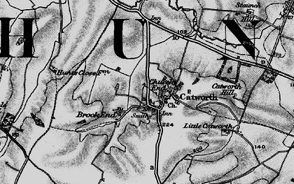 Old map of Tilbrook Grange in 1898