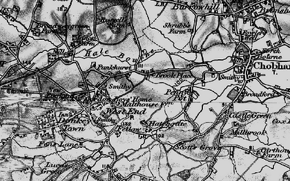 Old map of Brook Place in 1896