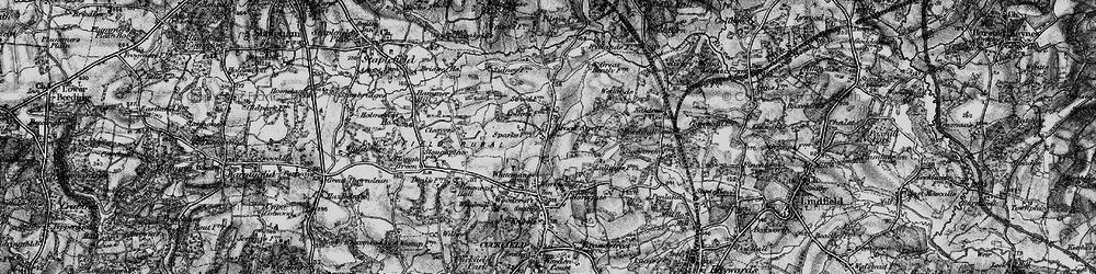 Old map of Wetlands Woods in 1895